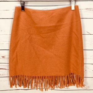 Jones New York Signature Orange Wool Skirt Size 8P